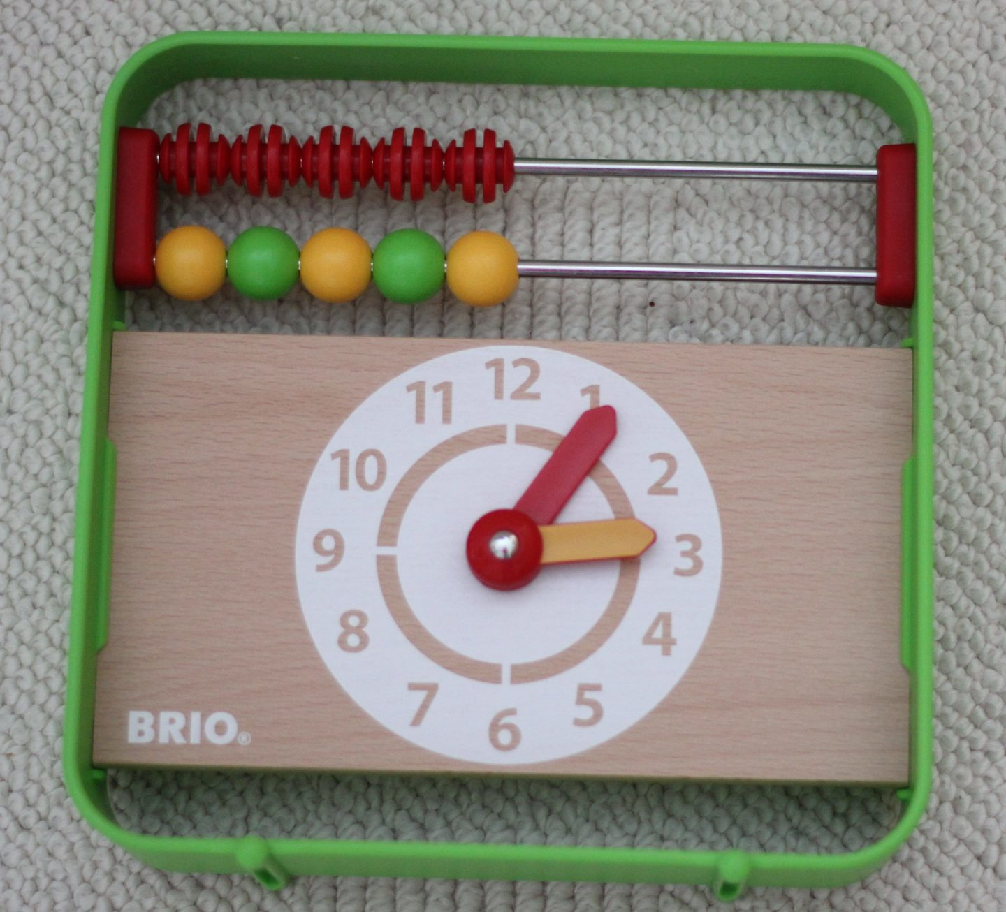 Playing with numbers 1 – 10 with Brio Abacus