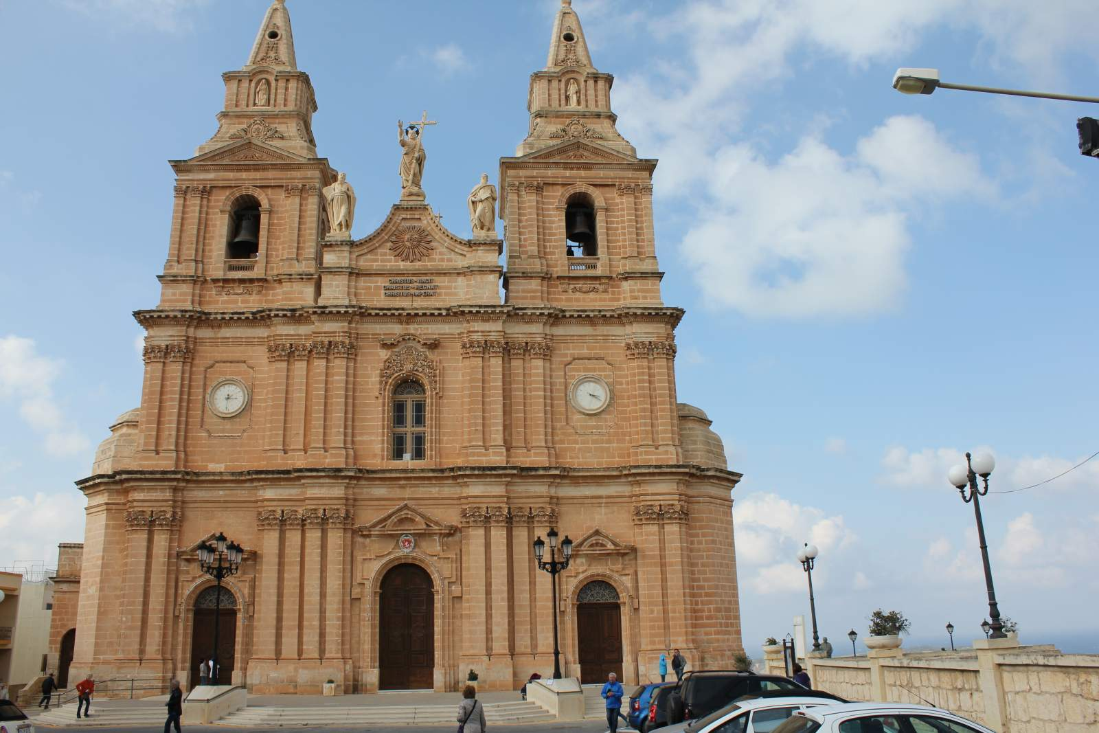 front of parish church of mellieha malta