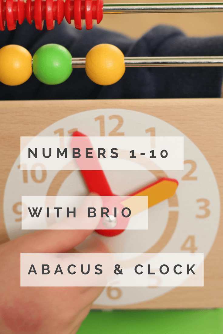 preschool reception kindergarten numbers 1-10 with brio abacus clock