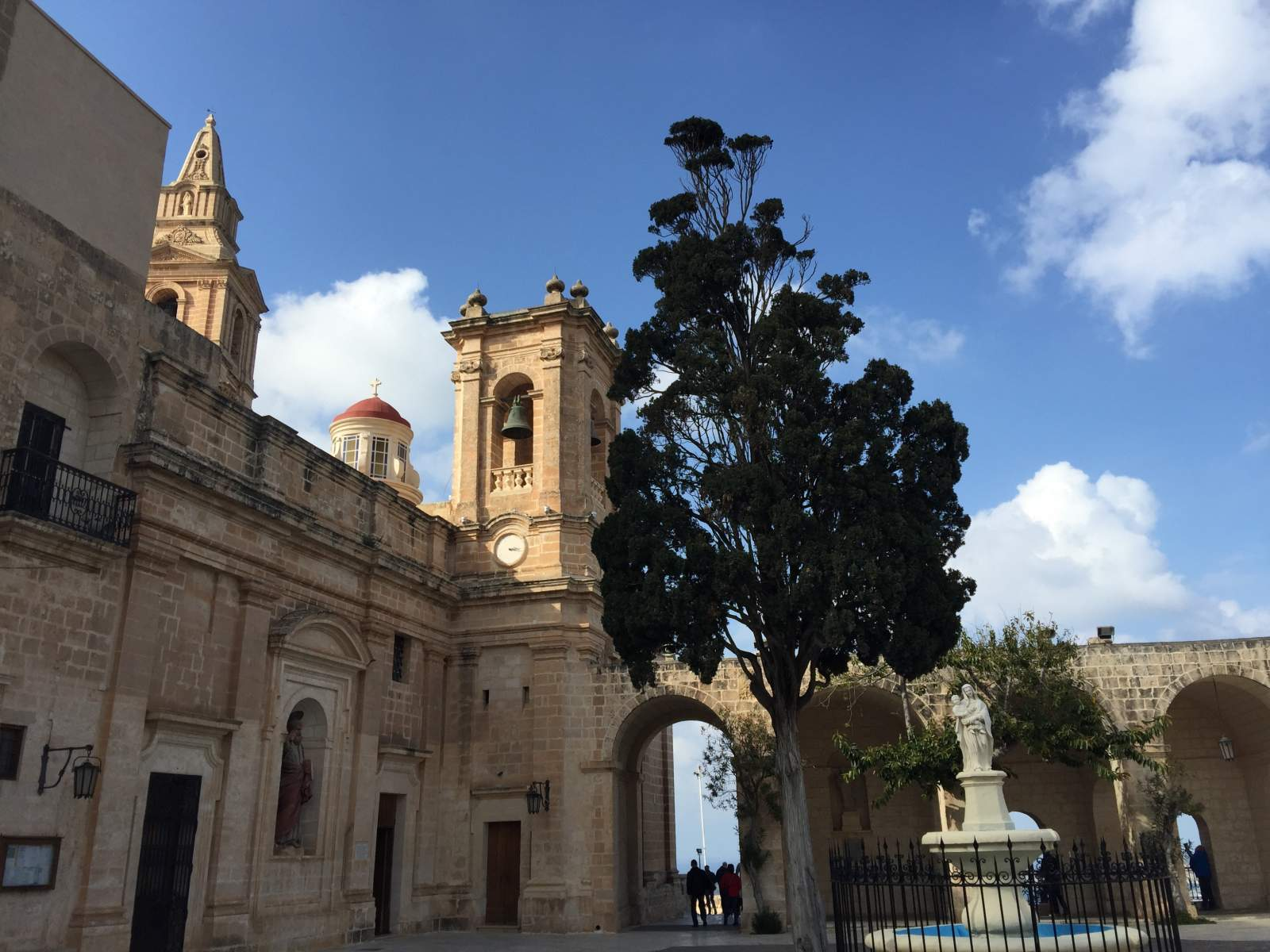 parish church mellieha malta external down hill
