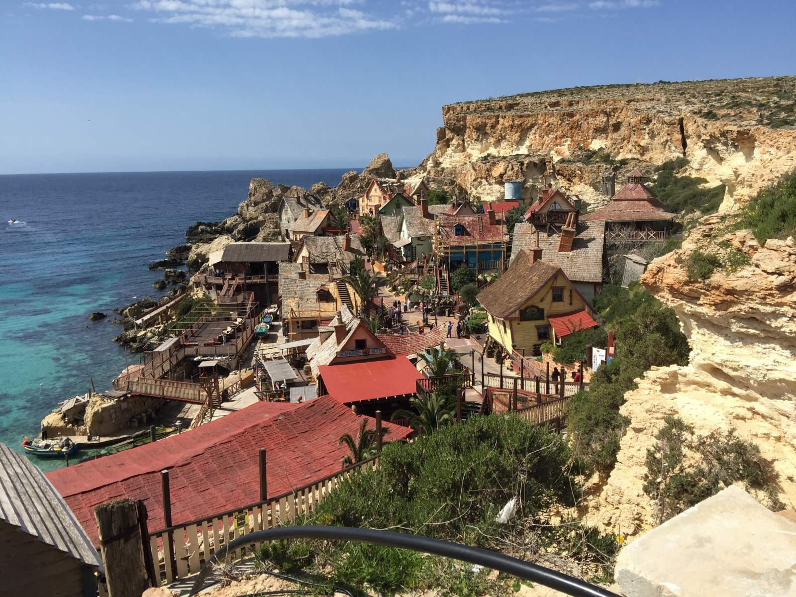 popeye village from the entrance malta