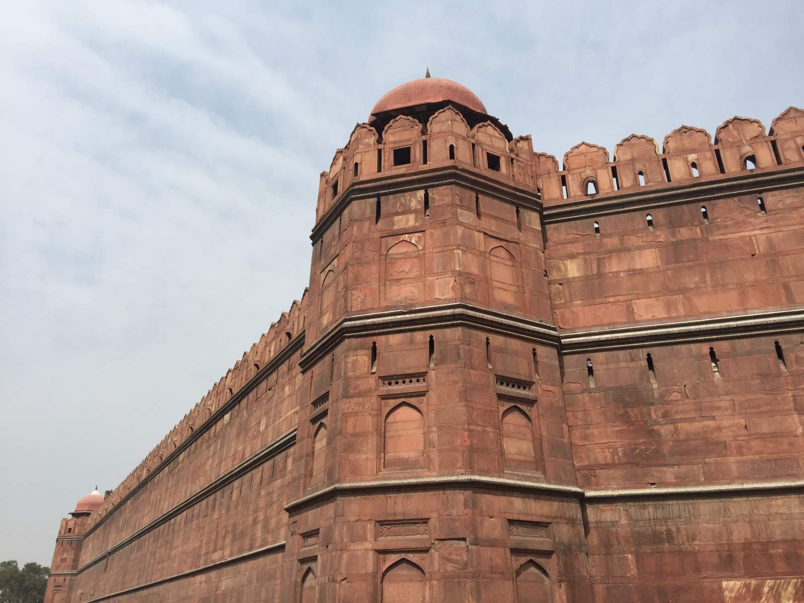 red fort corner turret