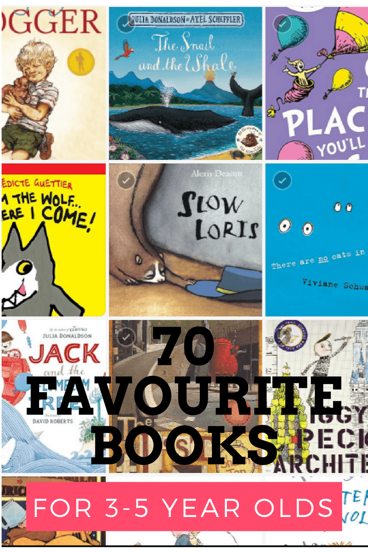70 favourite books for 3-5 year olds