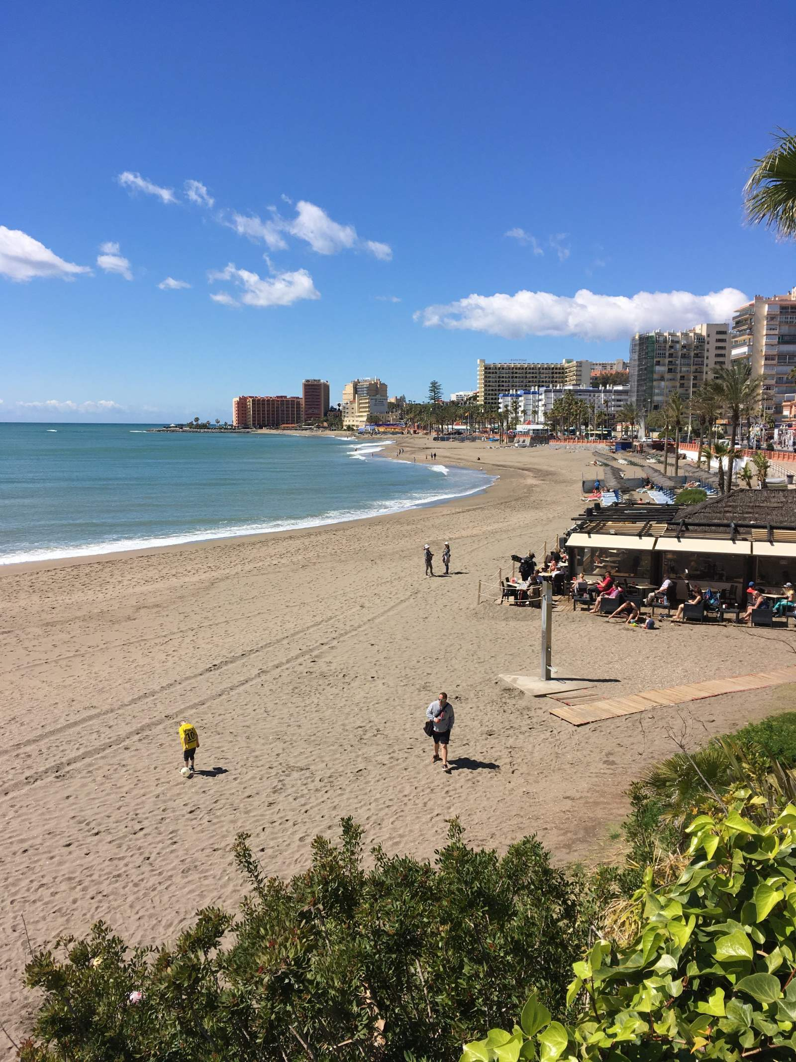 The beach at benalmadena