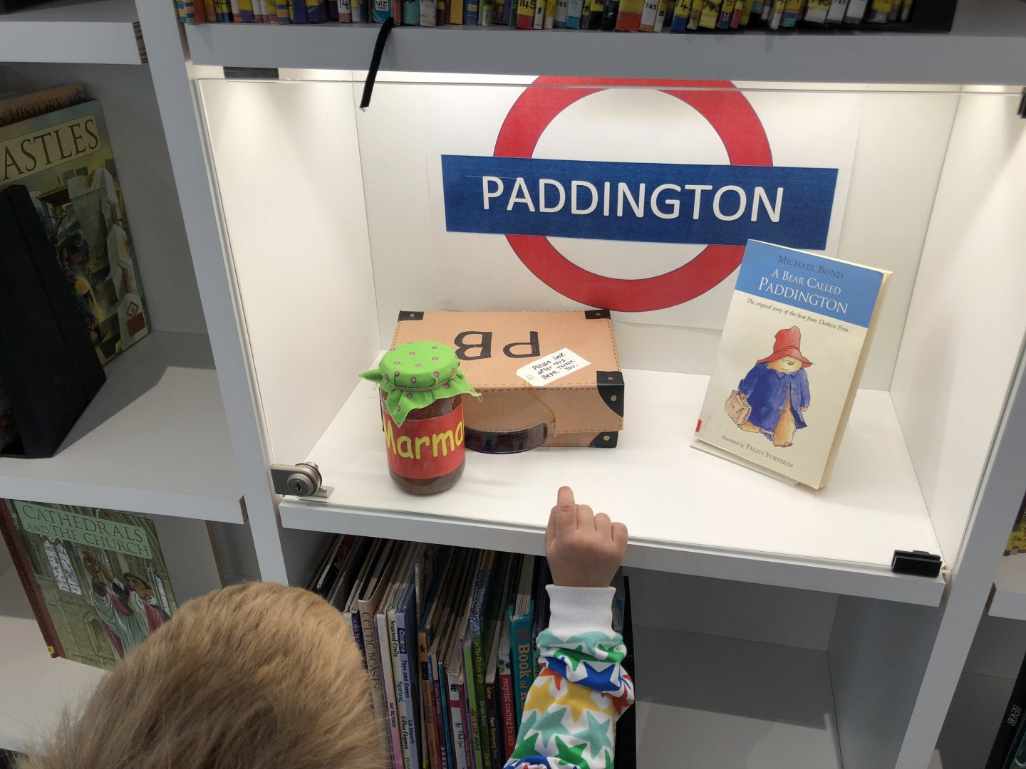 Paddington display in library The Word South Shields