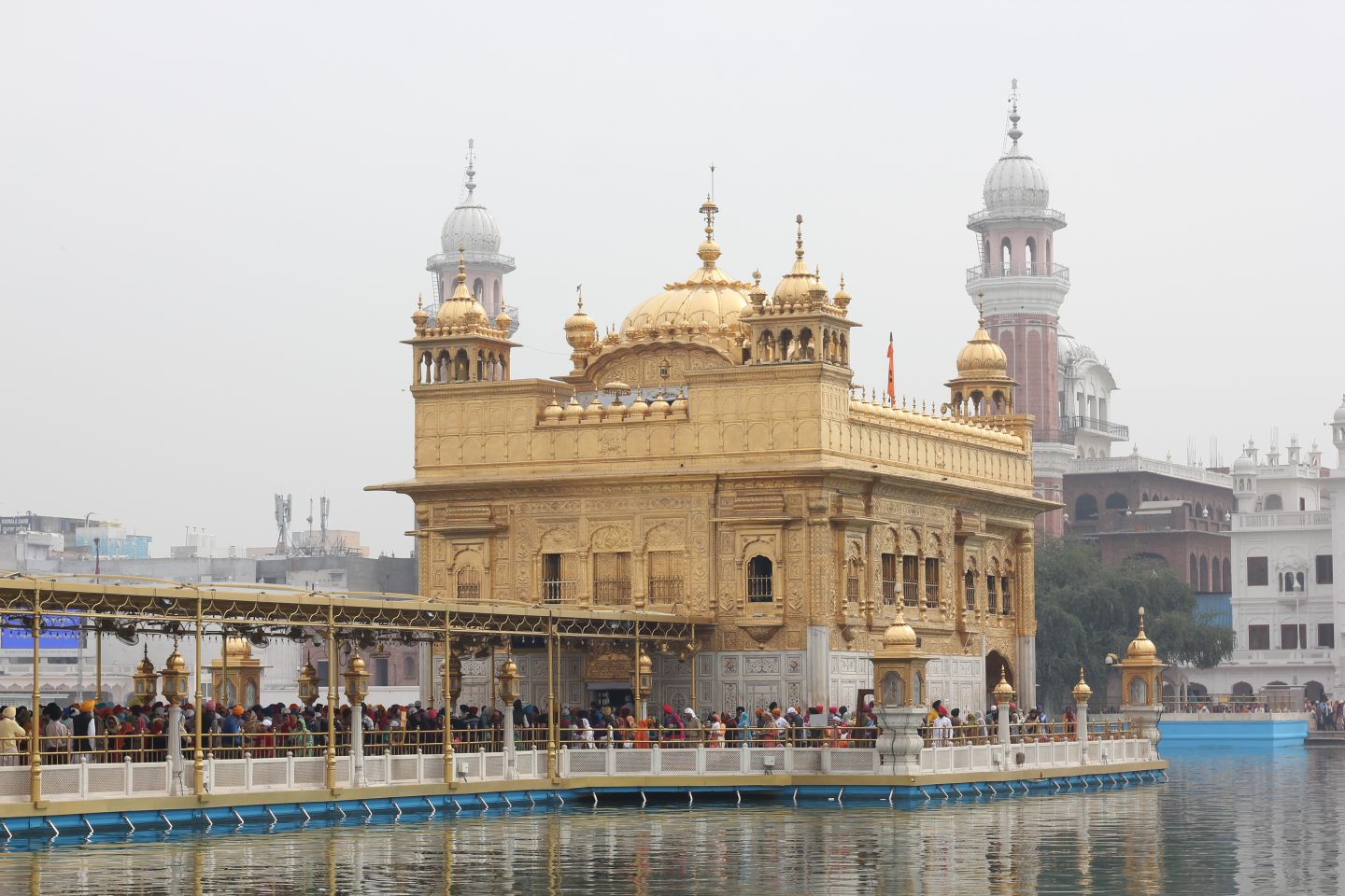 golden temple amritsar day time misty