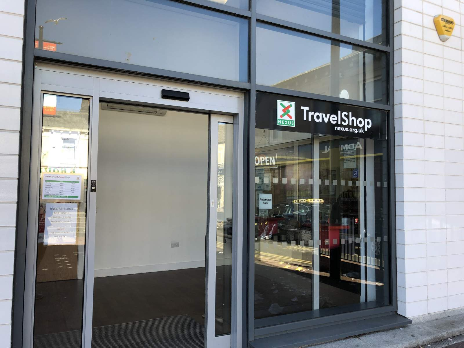 Travelshop Nexus shop front North Shields