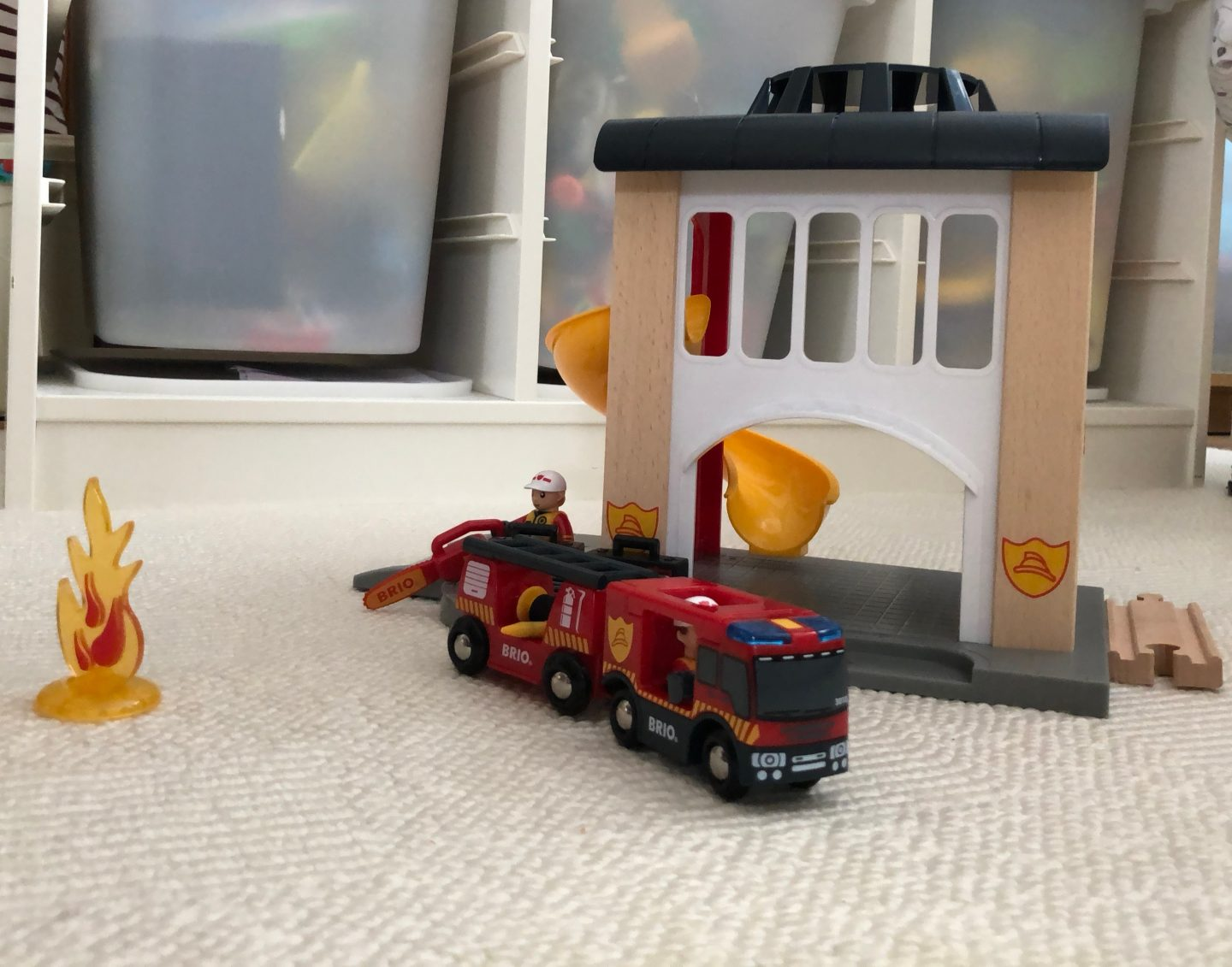 BRIO fire station toy
