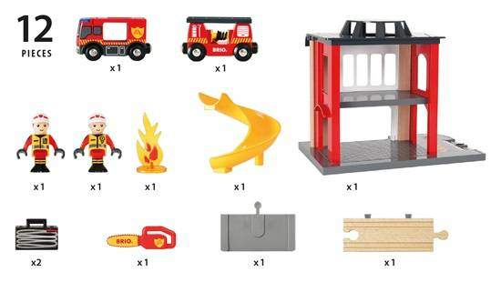 what's in the box BRIO fire station