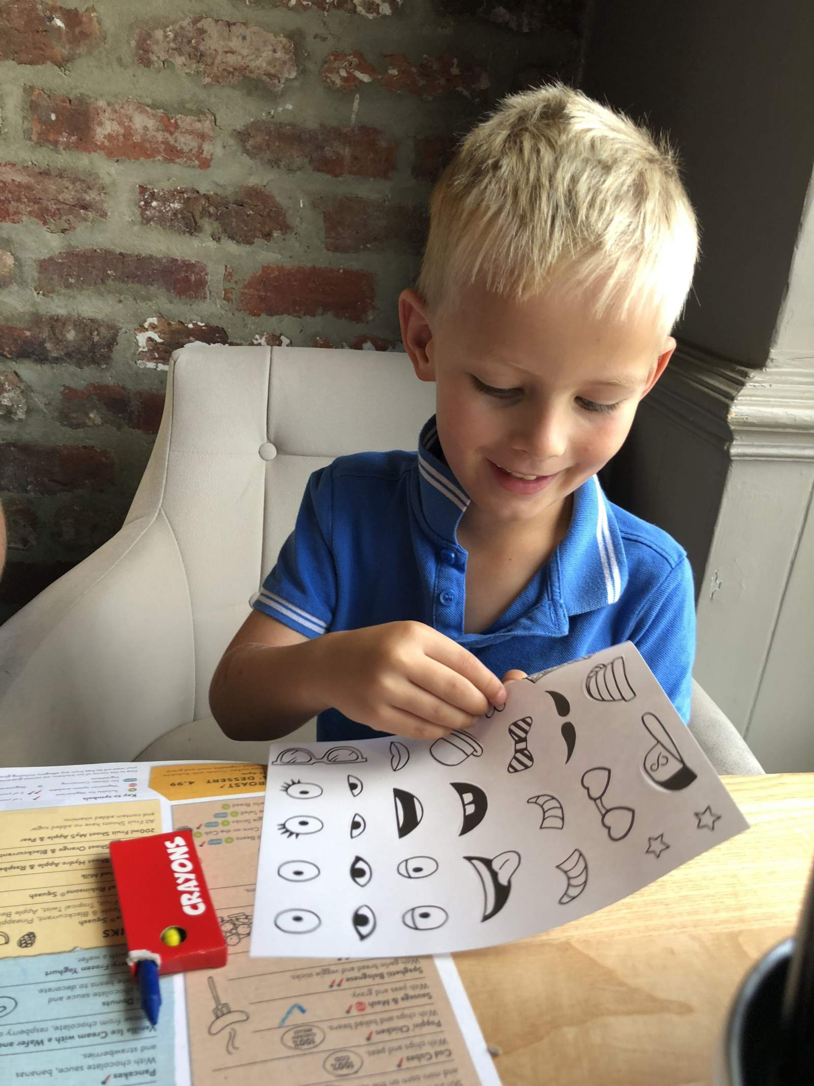 Kids Menu activities stickers cookhouse and pub holystone