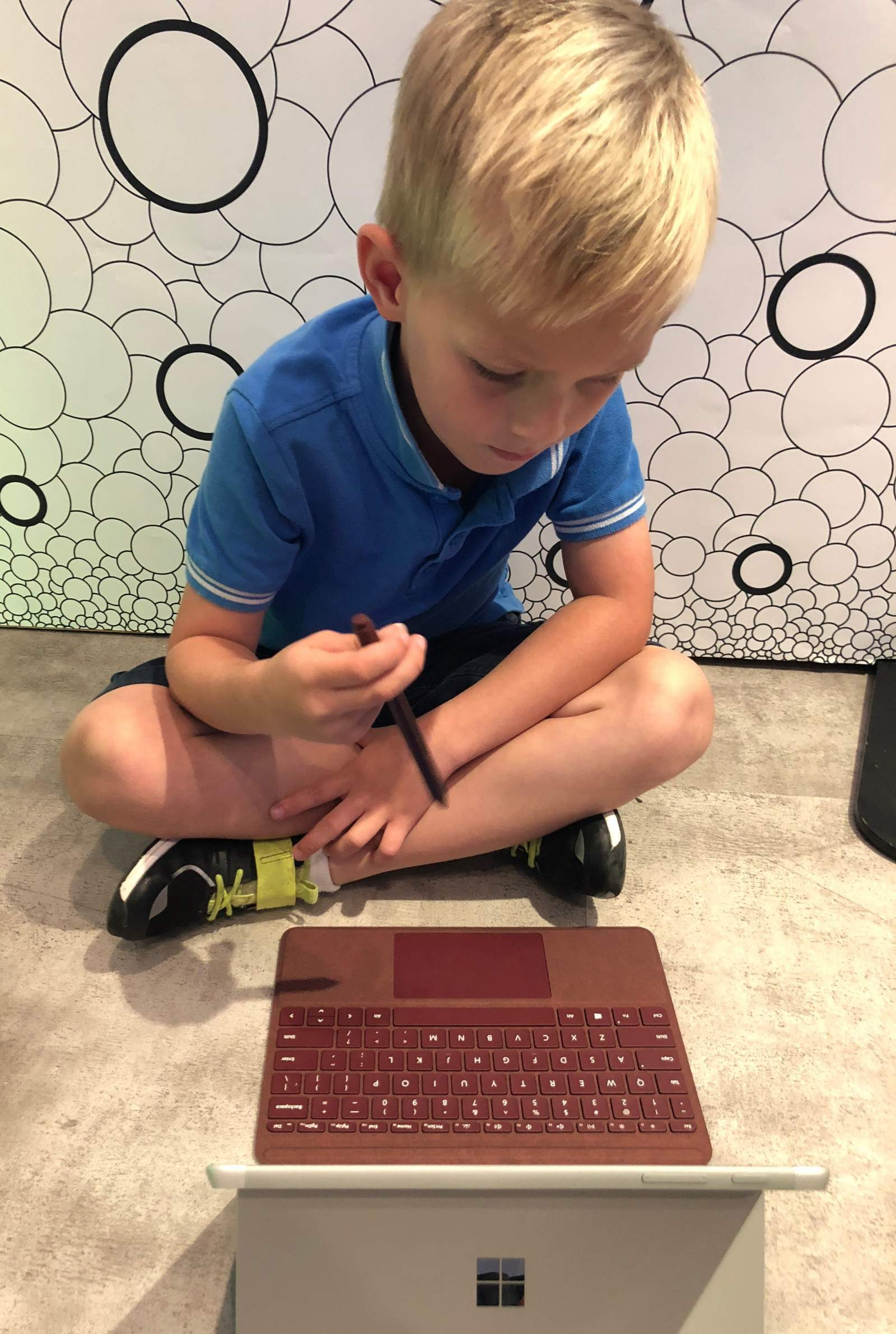 james using microsoft surface go