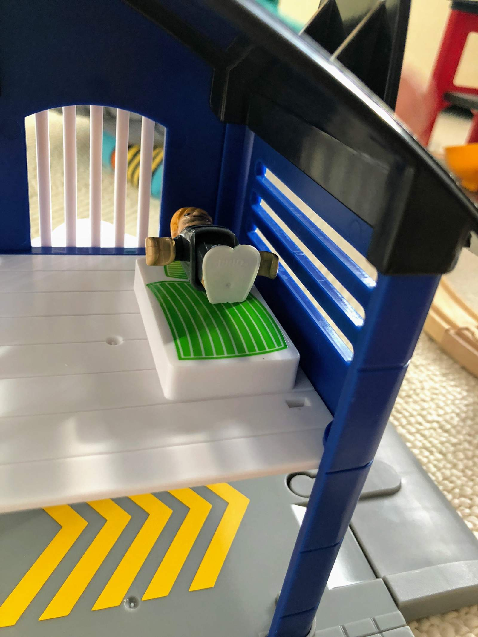 Prisoner on bed upstairs in brio police stations