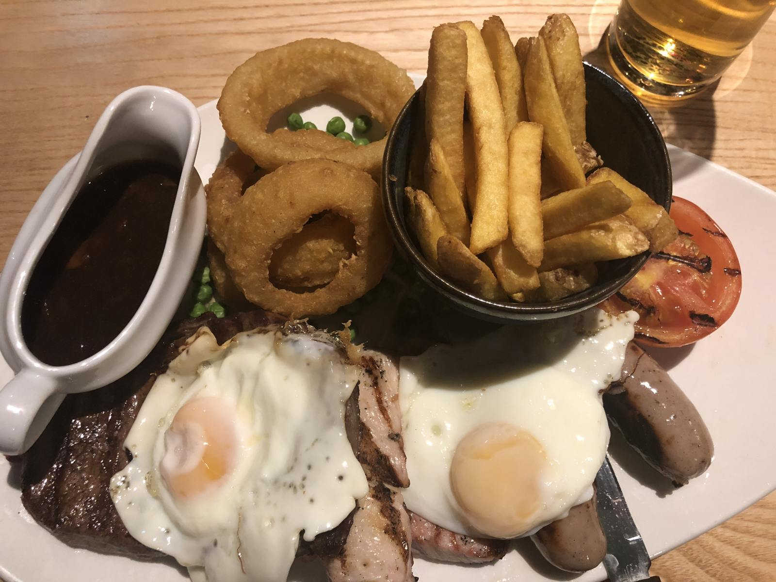 mixed grill at cookhouse and pub autumn