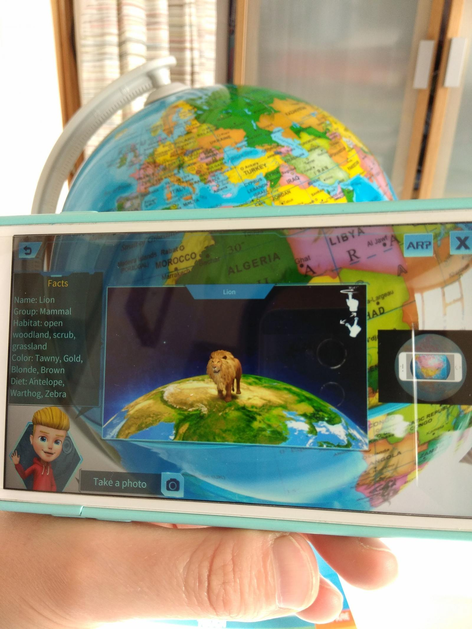 augmented reality on smart phone map