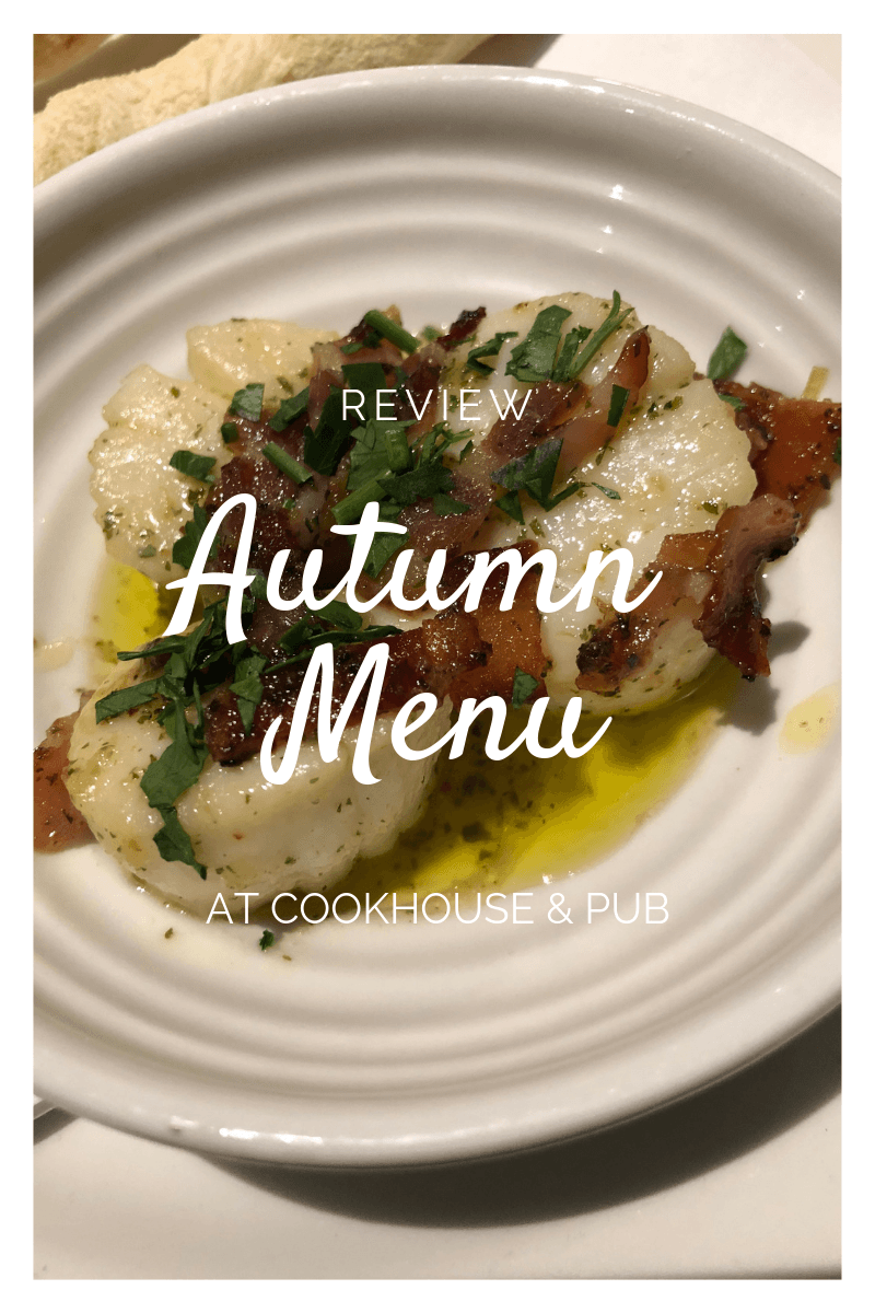 Cookhouse & Pub new Autumn Menu and exclusive discount 40% off!