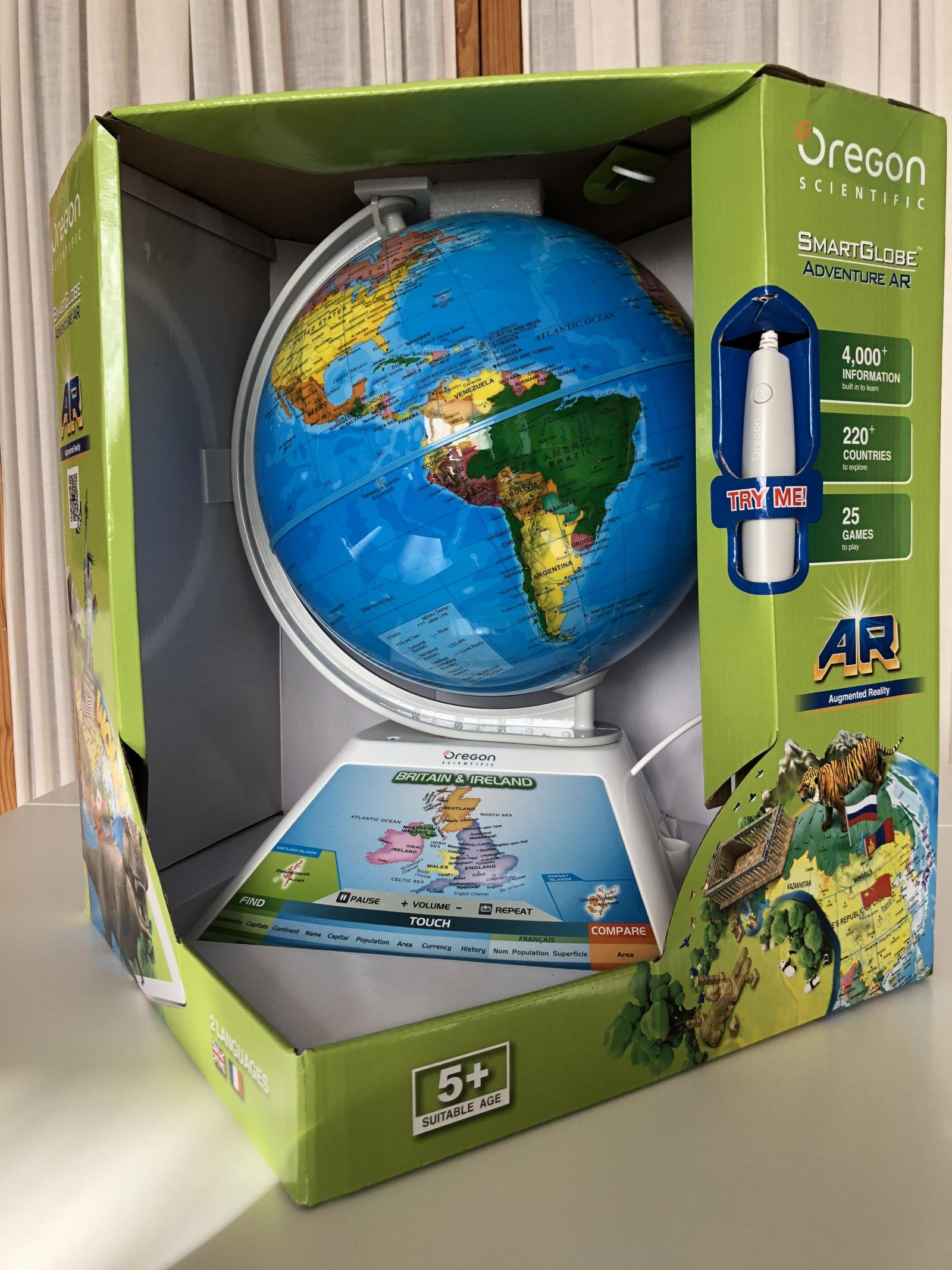 oregon scientific smart globe adventure ar in box