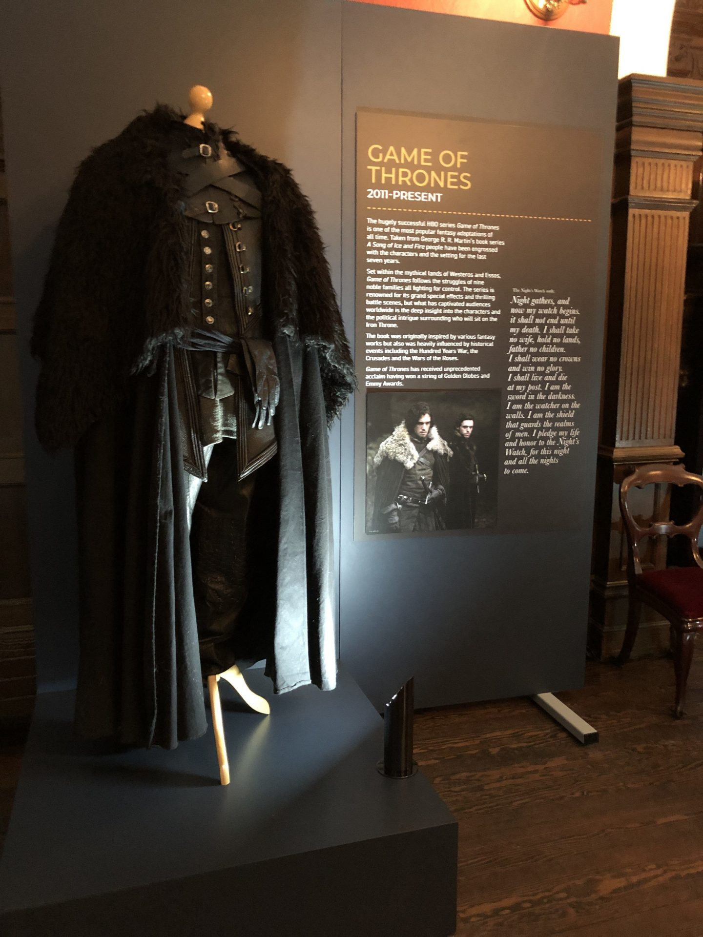 Game of thrones costume at preston park museum behind the seams