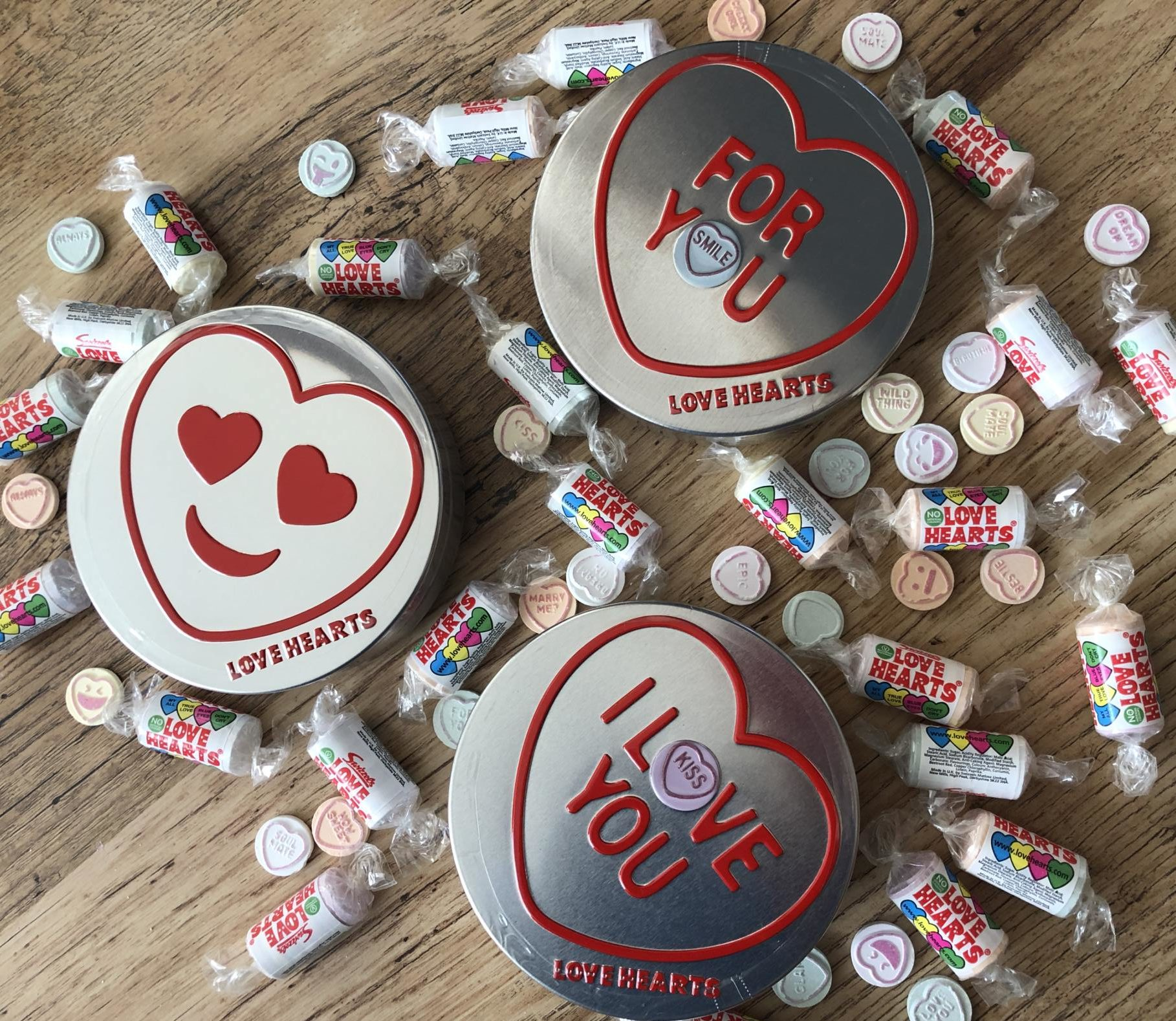 Get crafty with Swizzels Love Hearts Valentines Tins