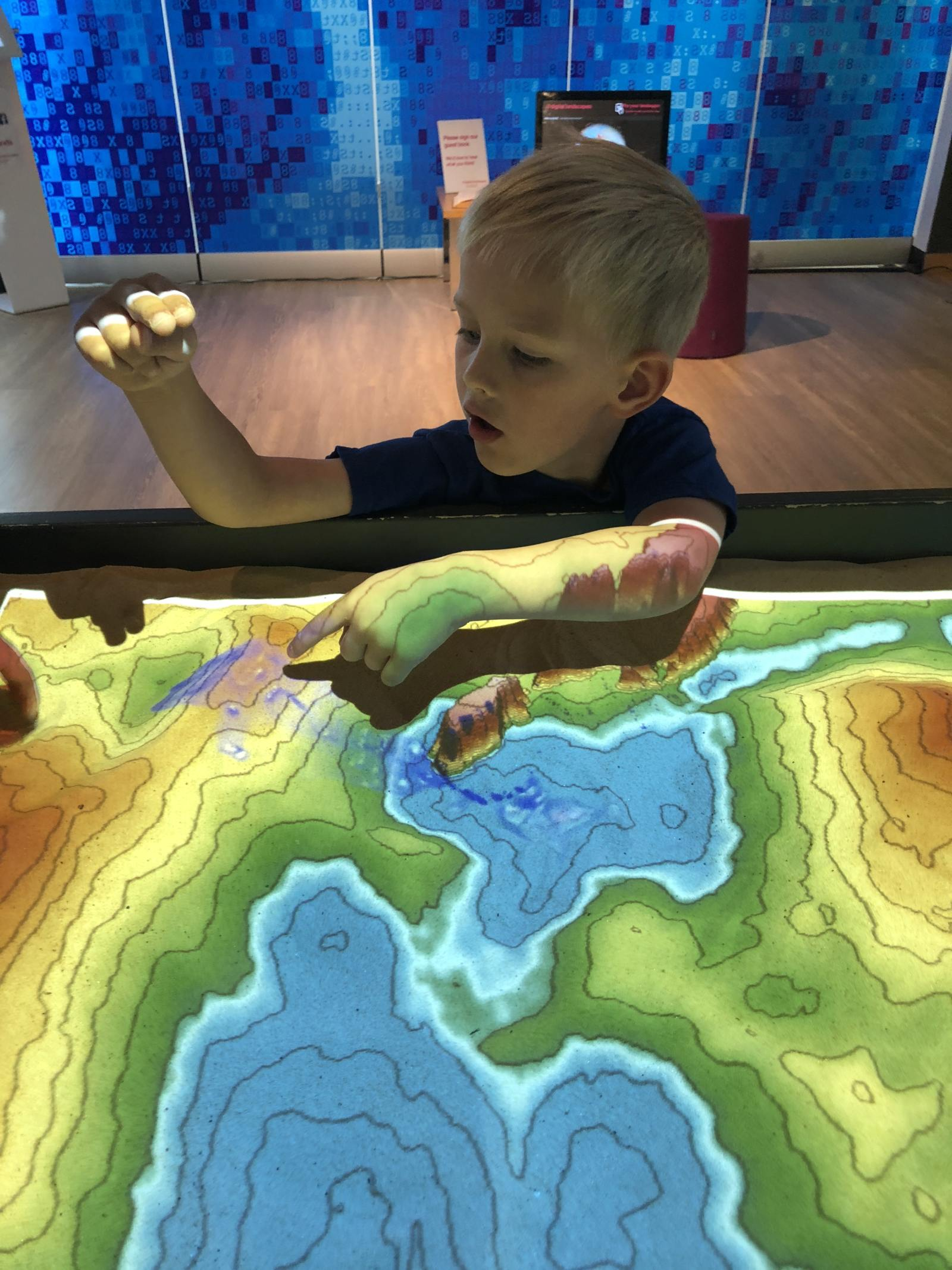 interactive landscape exhibit at The Sill