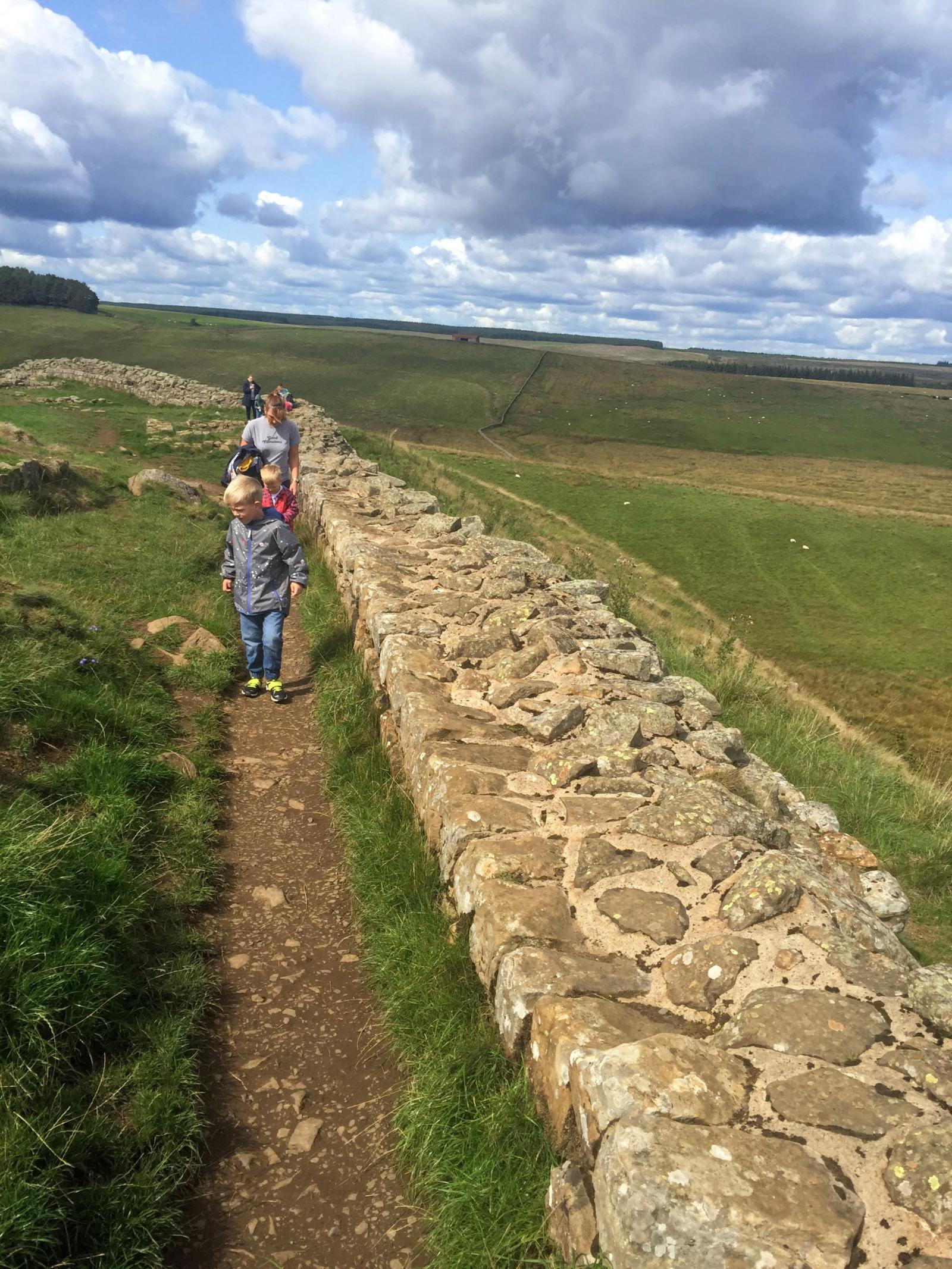 walking hadrian's wall with children