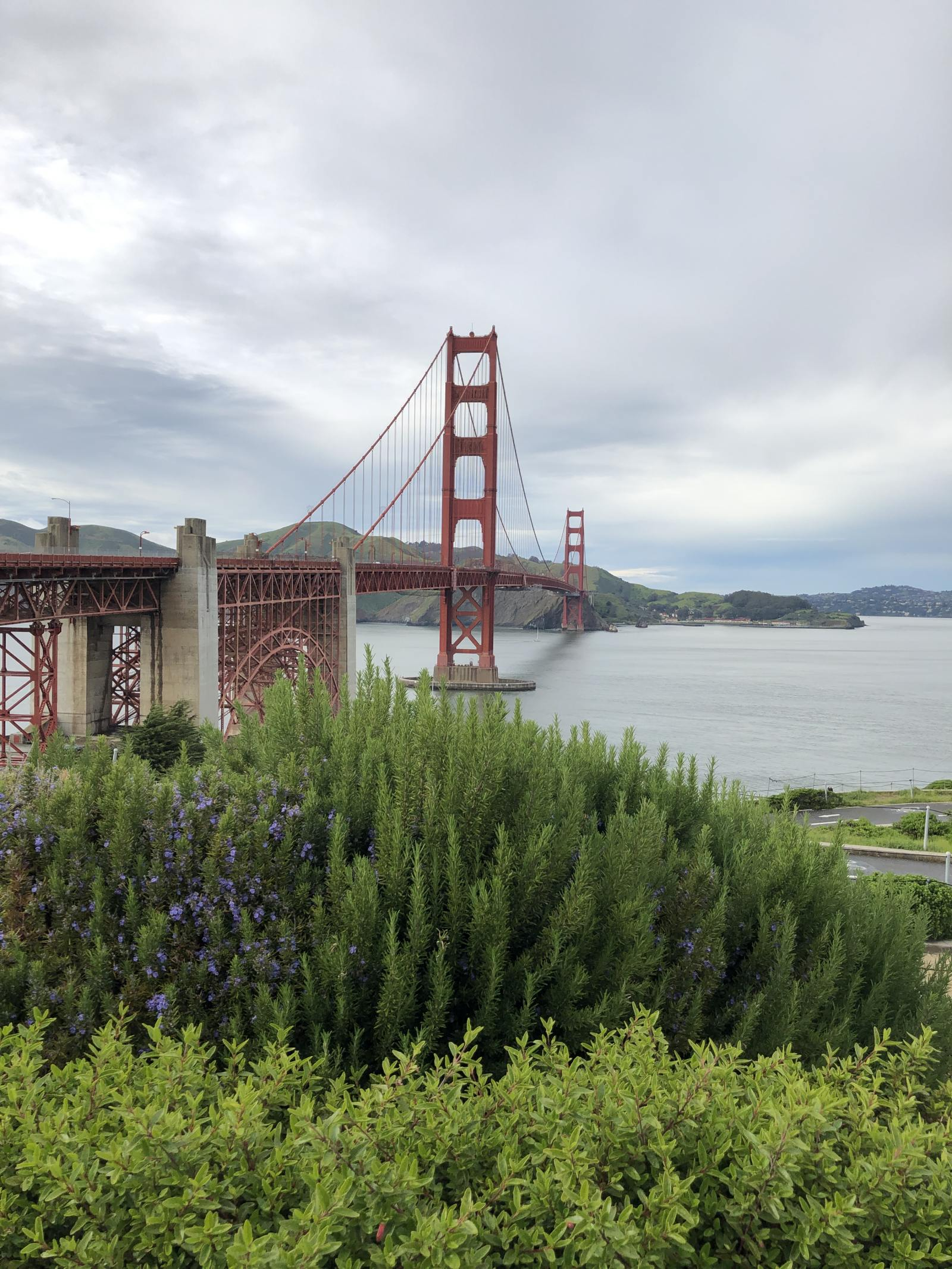 golden gate bridge from visitor centre south side