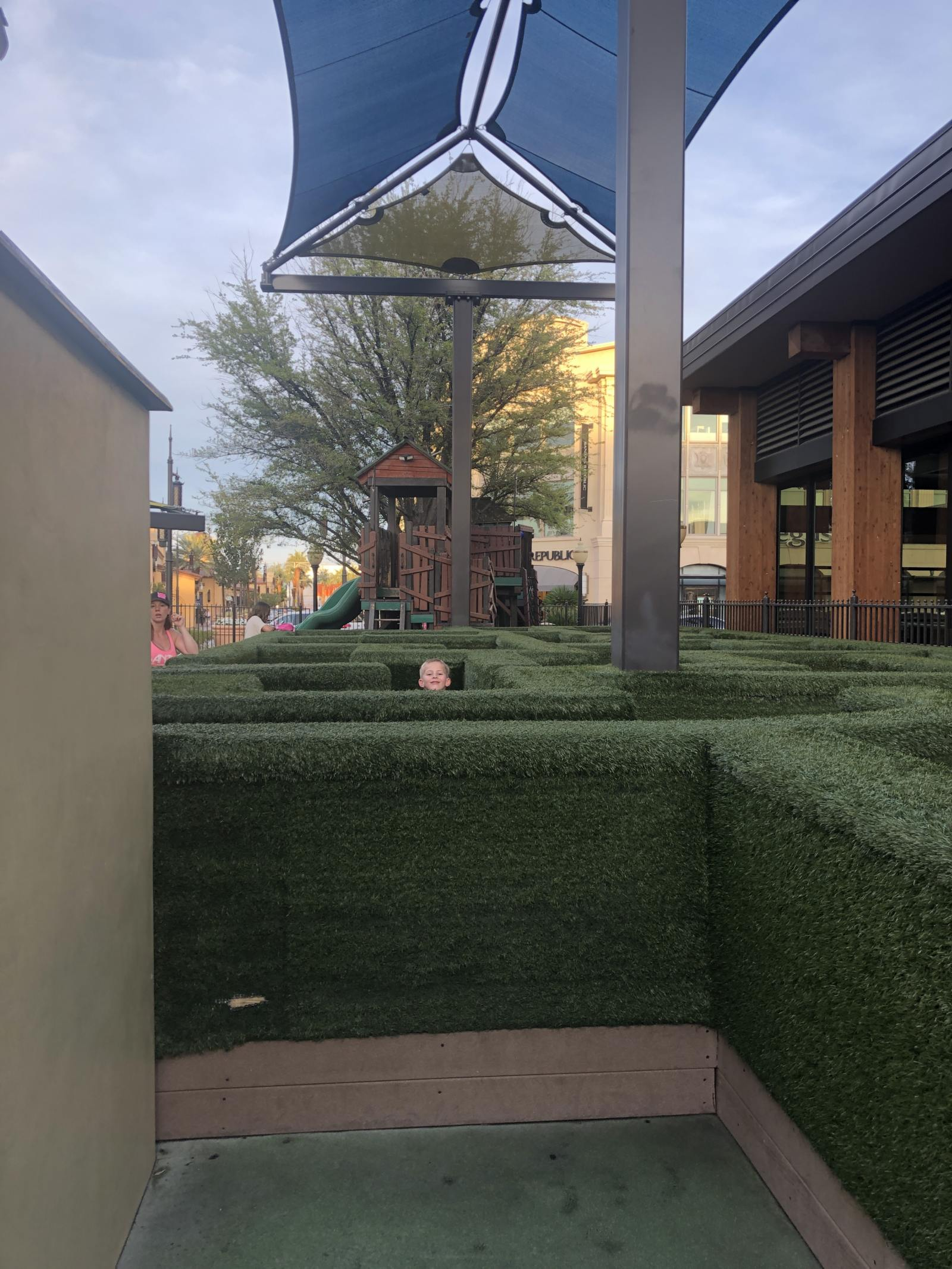 maze and climbing house structure at children's play area at town square las vegas