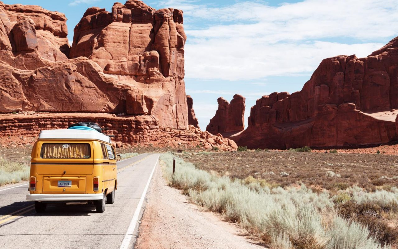 camper van arches national park moab
